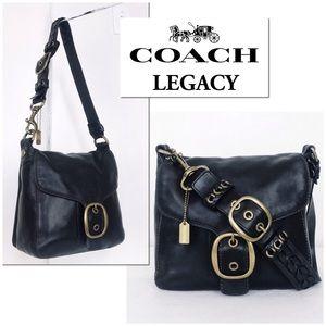 Coach Legacy Bleecker Lg Buckle Flap Shoulder Bag